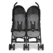 Chicco Geschwistersportwagen Echo Twin, coal black - 1