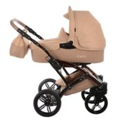 knorr-baby 3200-01 Kombikinderwagen, Voletto Happy Colour, grau/beige - 1