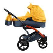 knorr-baby 3100-07 Kombikinderwagen, Voletto Sport, grau/orange - 1